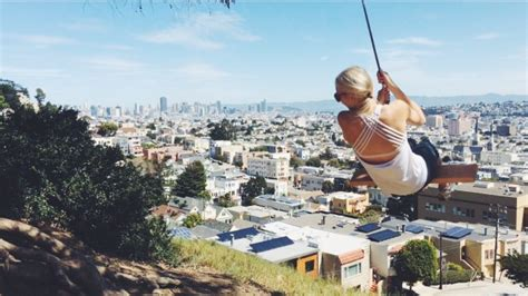 rope swing san francisco rope swinging over san francisco billy goat hill well