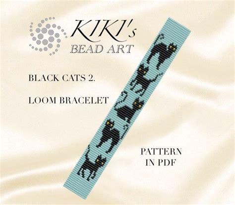 etsy loom pattern halloween sale bead loom pattern black cats ii loom