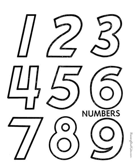 free coloring pages by numbers learn numbers preschool activities for kids 018