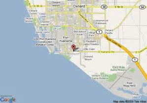 oxnard california map and oxnard california satellite image