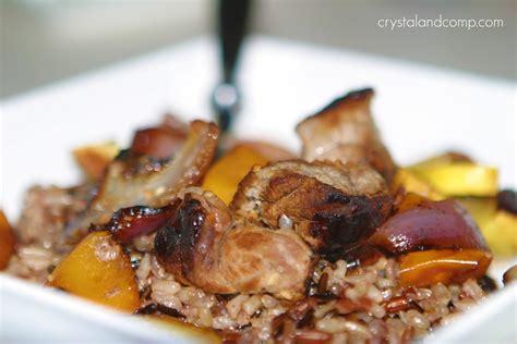beef recipes dijon wine steak kabobs with mushroom rice