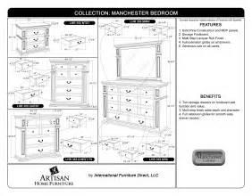 Bedroom Dresser Dimensions Artisan 533 Bedroom International Furniture Design
