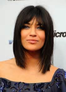 layered hairstyles with bangs for americans that hairs thinning out jessica szohr medium choppy layered straight cut with