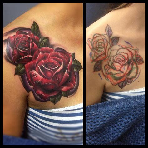 rose coverup tattoo roses cover up flower best ideas gallery
