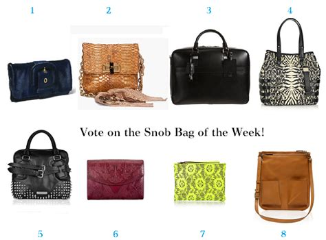 Web Snob The Bag Snob 5 by Vote On Your Favorite Bag Of The Week June 10th 2011