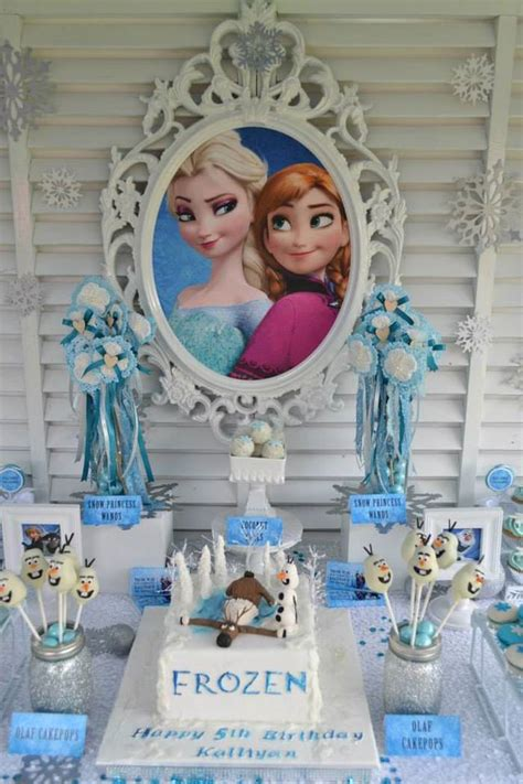 karas party ideas frozen princess themed birthday party  karas party ideas full