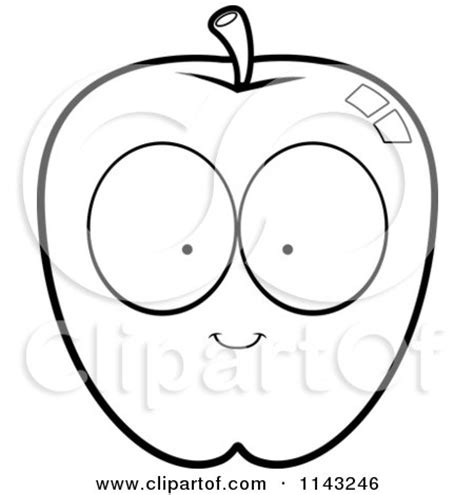 apple coloring pages free large images music therapy cartoon clipart of a black and white apple character
