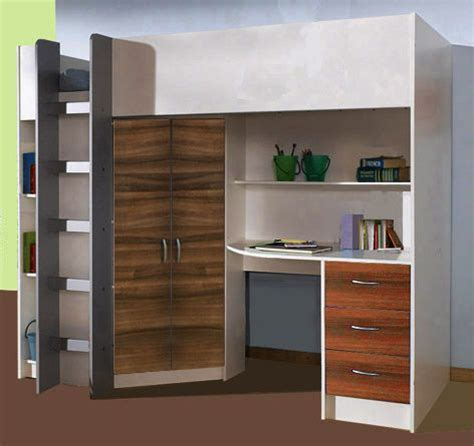 High Sleeper Cabin Bed With Wardrobe And Desk by 25 Best Ideas About High Sleeper On High Beds