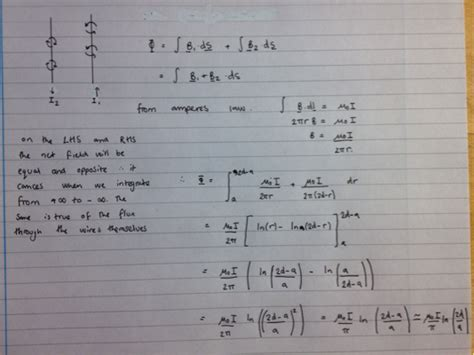 inductance in two parallel wires homework and exercises inductance of two parallel wires physics stack exchange