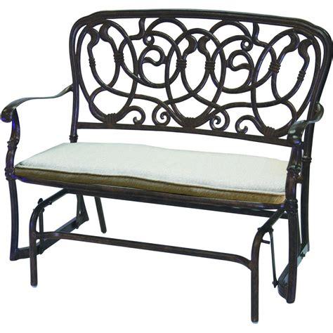 patio glider bench darlee florence 2 piece cast aluminum patio bench glider