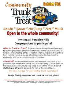 Trunk Or Treat Flyer Template by Uccph Newsletter