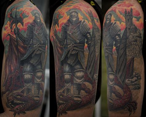 black and grey knight tattoo tattoo city skin art studio