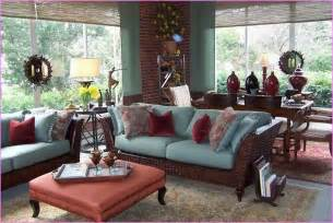 Design Ideas For Indoor Sunroom Furniture Sunroom Decor Ideas Sunroom Furniture Ideas Decorating Sunrooms Rustic Brick Wall Cozy Blue