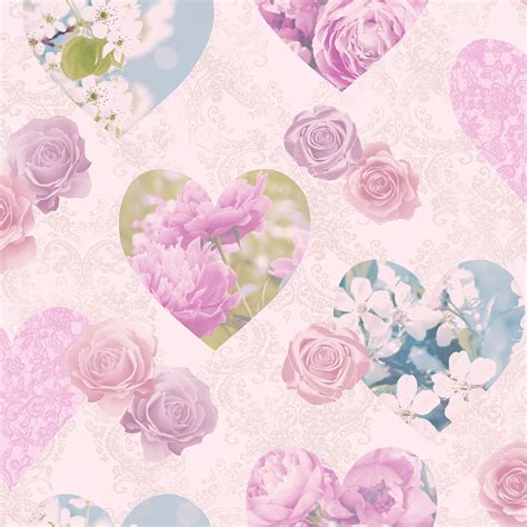 heart bedroom wallpaper heart themed wallpaper girls bedroom pink various designs available new free p p ebay