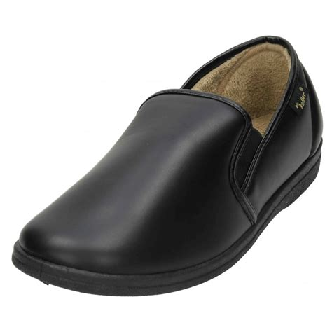 mens house shoes dr keller mens cosy pu slippers house shoes soft lining