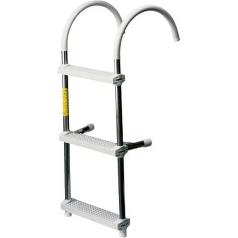 discount cabela s three step deluxe boat ladder reviews - Cabela S Boat Ladder