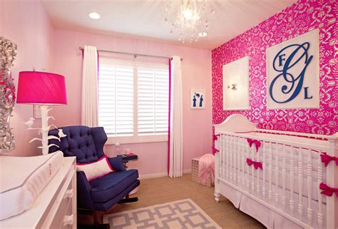 Pink Nursery Decor Glam Pink Nursery By Crown Interiors