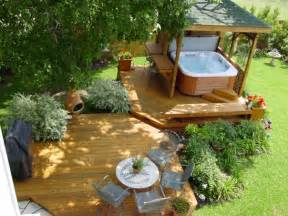 Patio Deck Designs Tub Archadeck Invites You Take The Plunge With A Stunning