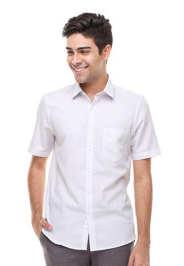 Kemeja Wanita Lengan Pendek Lgs O1129400 Putih slim fit kemeja formal lengan pendek polos putih