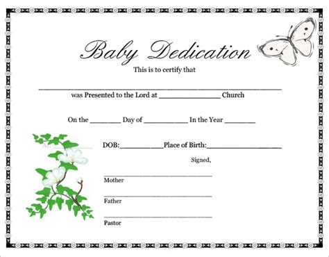 child adoption certificate template free adoption