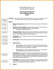 board agenda template non profit 8 nonprofit board meeting agenda template letter format for