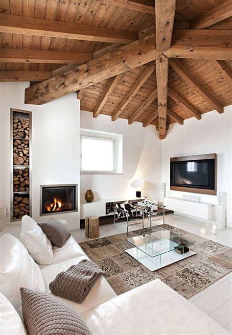 arredamento bianco e legno accostare bianco e legno nel salone 20 bellissimi esempi