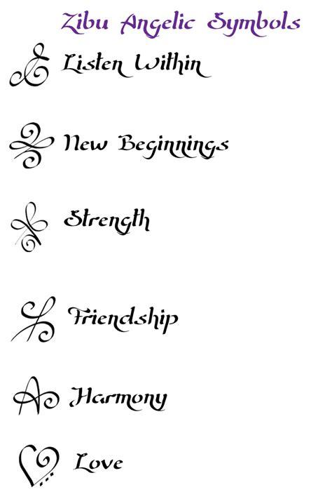 What Are Zibu Angelic Symbols
