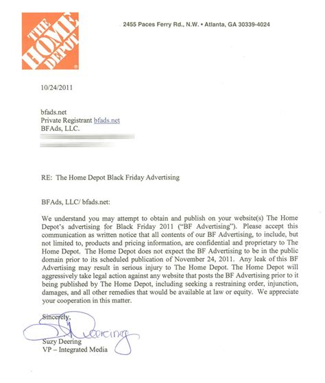 cover letter for home depot home depot c d radio shack ad removed