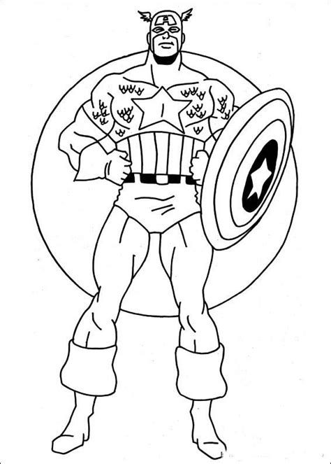 captain america coloring pages  kids superhero