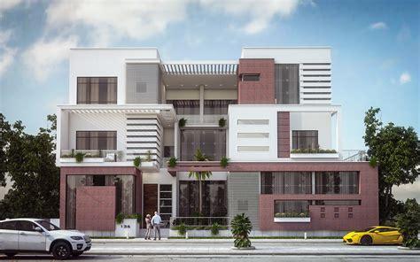 modern villa modern villa elevation design kuwait on behance