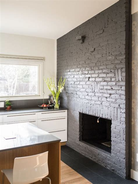 Modern Kitchens With Fireplaces by Classic Slate Floors For Interior And Exterior Midcentury