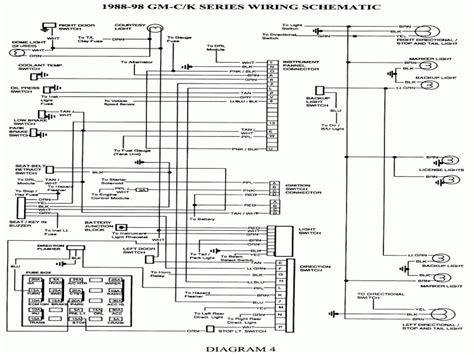 1998 chevrolet k3500 wiring diagram 1998 chevy wire