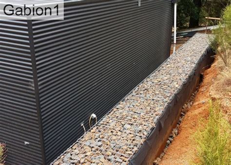 Landscape Fabric Retaining Wall 1000 Images About Gabion Wall On Railway