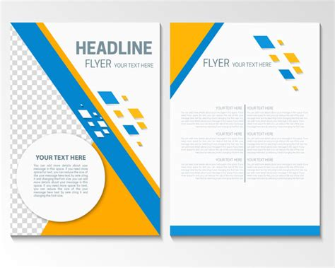 adobe illustrator flyer template flyer template with modern style design free vector in adobe illustrator ai ai vector