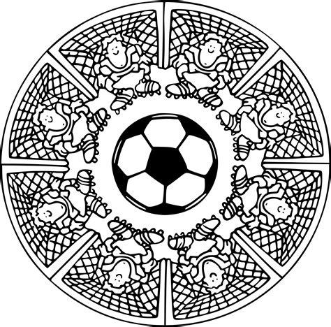 Coloriage Mandala Football 224 Imprimer Sur Coloriages Info Dessin De Foot A Colorier L