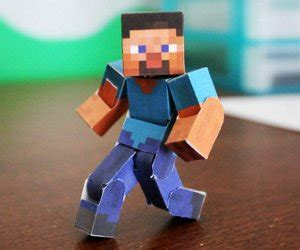 How To Make Paper Minecraft Characters - pixel papercraft