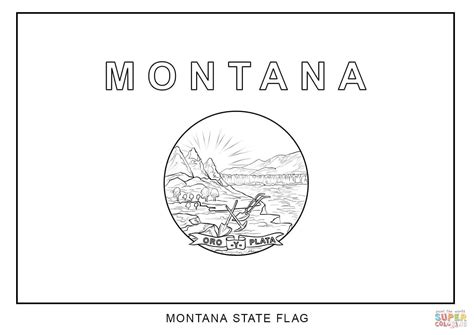 Montana State Flag Coloring Page flag of montana coloring page free printable coloring pages