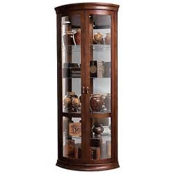 Curio Cabinet Bed Bath And Beyond Howard Miller Chancellor Corner Curio In Hton Cherry