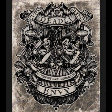 seven sins tattoo envy print by se7en deadly sbtt in general