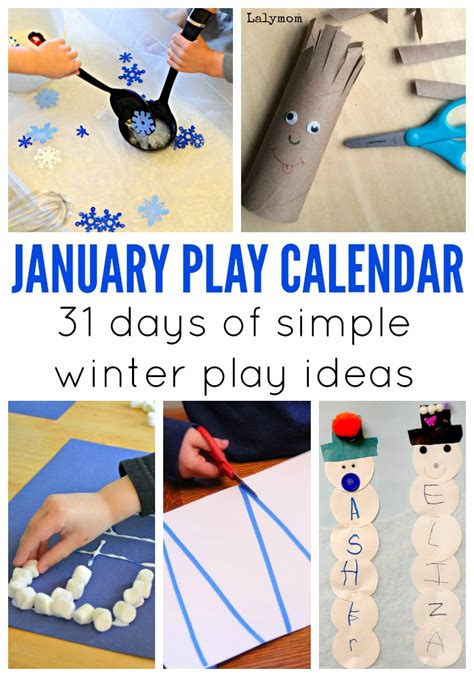 january craft projects january activities for monthly play calendar lalymom