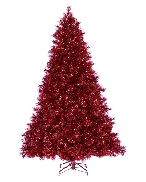 red christmas tree ruby red tinsel christmas tree treetopia