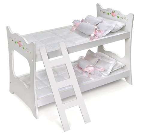 Baby Doll Bunk Bed Badger Basket White Doll Bunk Bed Toys Dolls Accessories Baby Dolls