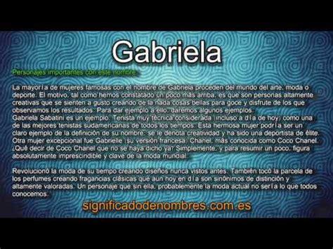 nombre decorado gabriela gabriela significado y origen del nombre by significado y