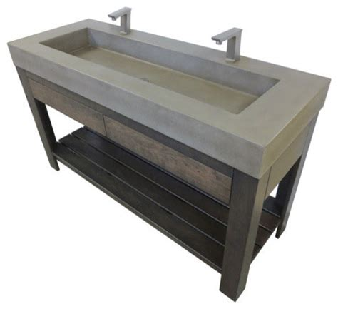 60 quot lavare rectangle concrete sink with drawer industrial