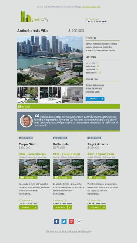 Family Newsletter Template Template Business Real Estate Email Templates Free