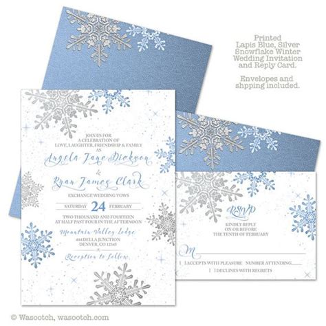 what comes in a wedding invitation snowflakes wedding and pearls on
