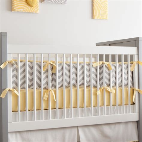 yellow and grey crib bedding gray and yellow zig zag crib bumper carousel designs