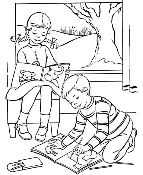 Valentine Color Pages For Kids Coloring Home Coloring Pages Of Children S Day