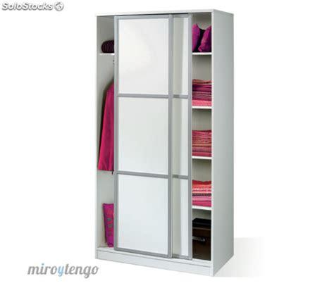 armario ropero color blanco brillo  puertas correderas de dormitorio xcm