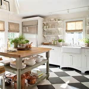 Black And White Kitchen Floor Black And White Chessboard On The Floor Scandi